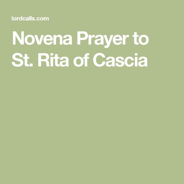 Novena Prayer to St. Rita of Cascia