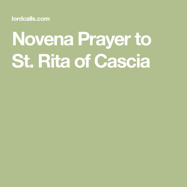 Novena Prayer to St. Rita of Cascia