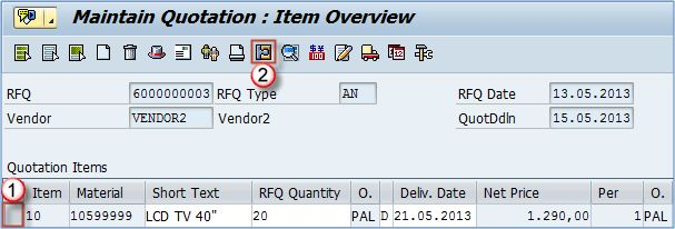 How To Select Or Reject A Quotation SAP MM Pinterest Quotation - purchase quotation