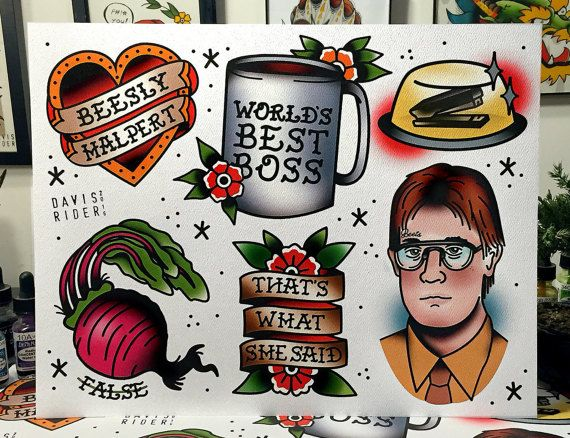 The Office Flash Sheet by DavisRiderPrints on Etsy