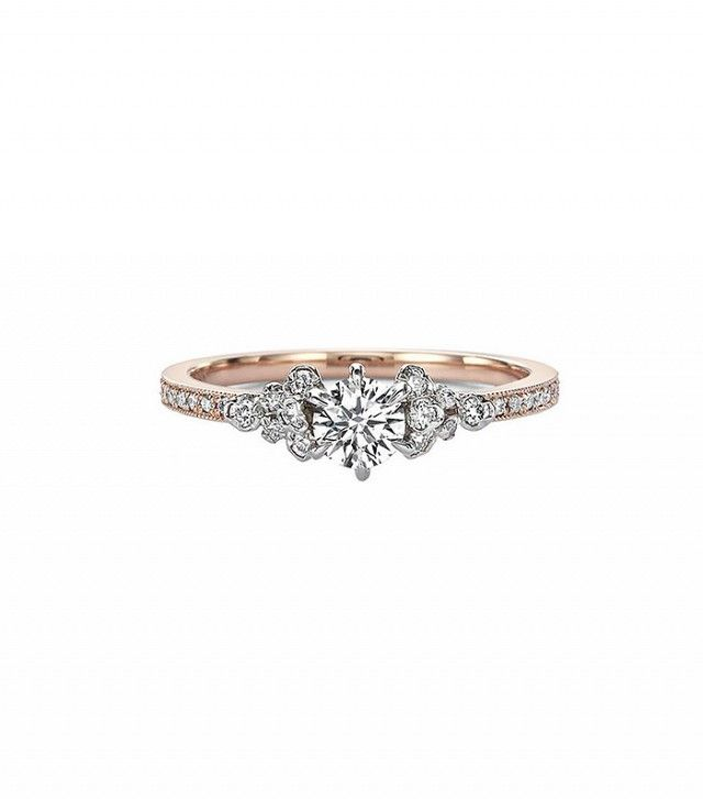 Kataoka Diamond Solitaire Cluster Ring