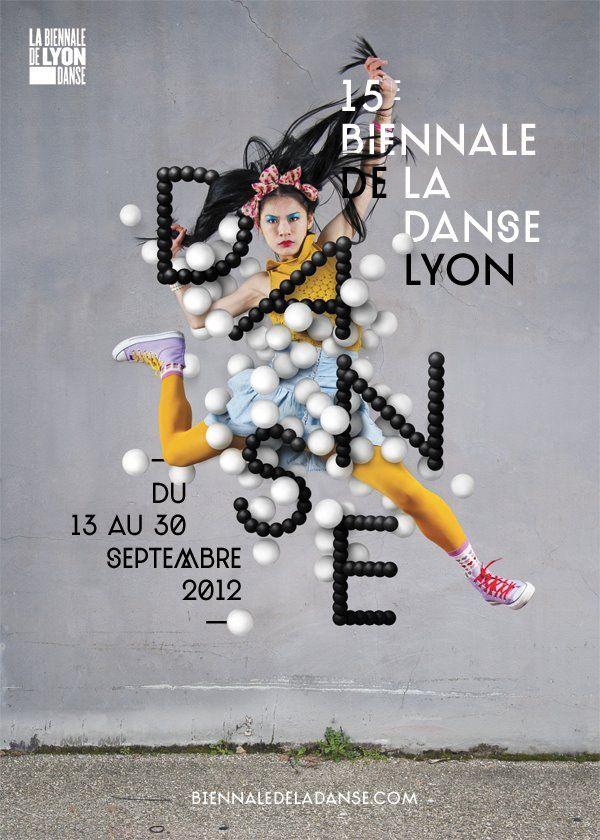 Affiche Biennale de la danse de Lyon © Les graphiquants