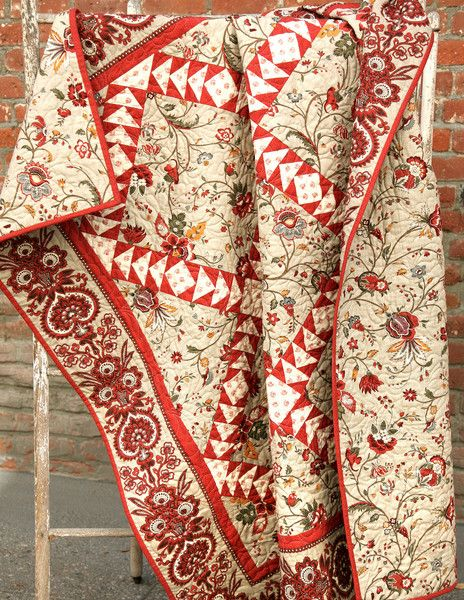 """A beautiful classic quilt pattern designed by the French General design team. Size: 57.5"""" x 57.5"""""""