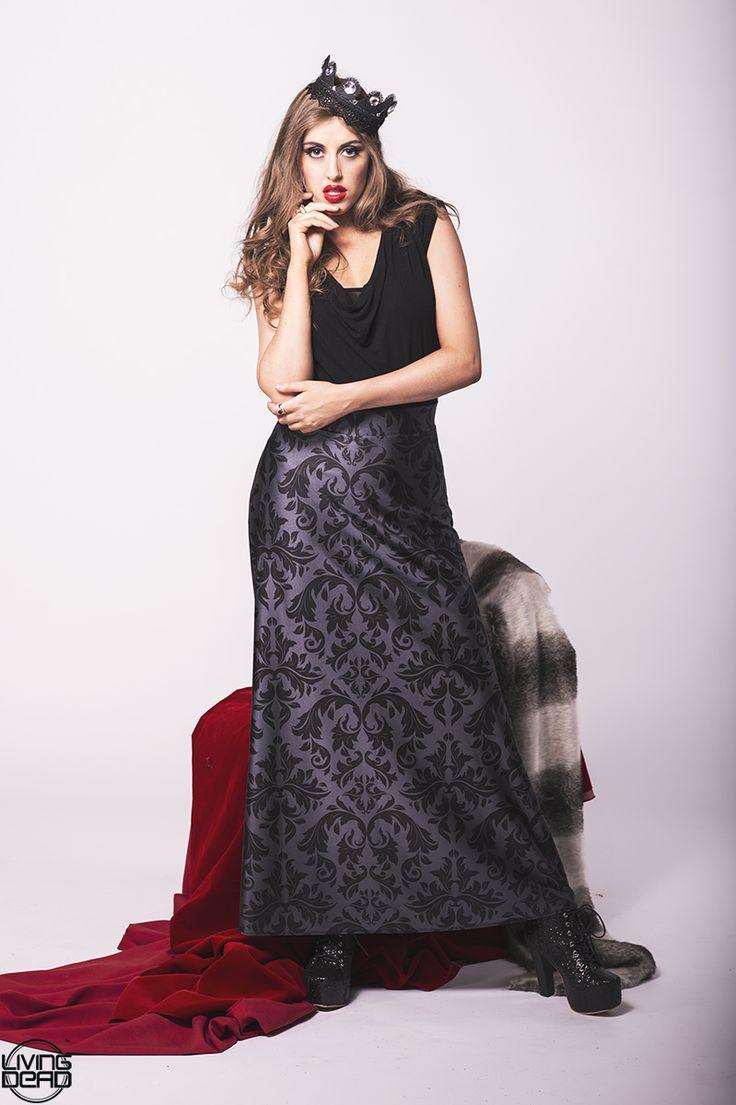 Black Damask Maxi Skirt - $90.00 AUD LIMITED