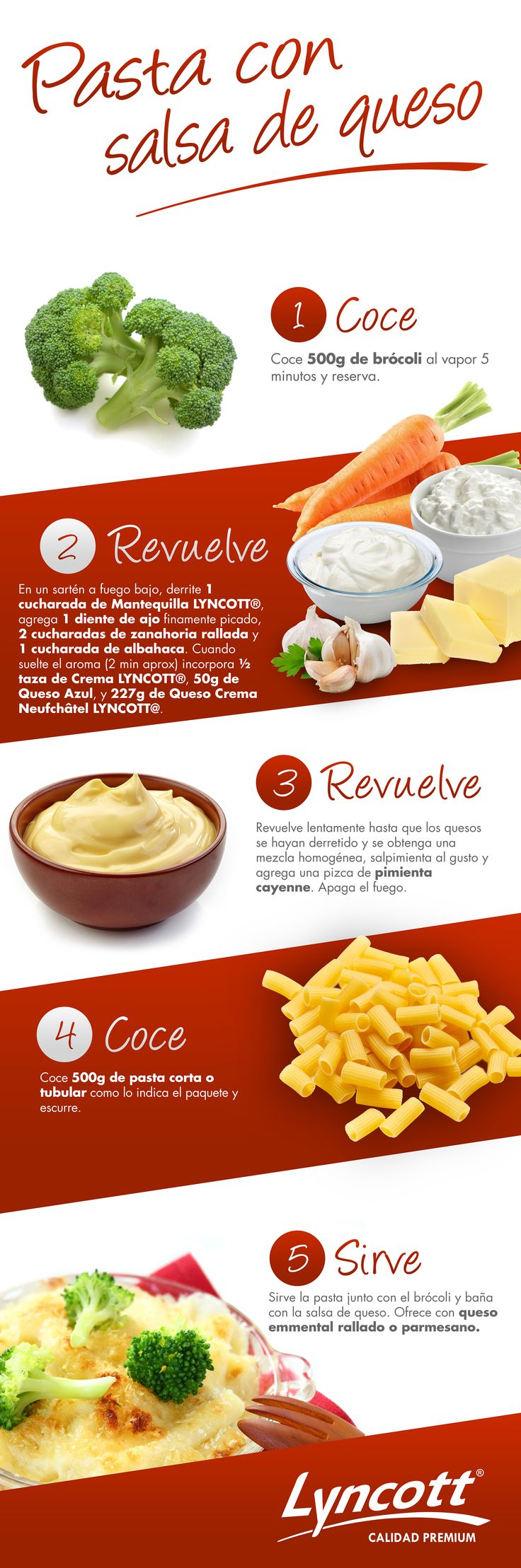 Pasta con salsa de queso #RecetaFácil #Lyncott #Saludable #Delicioso