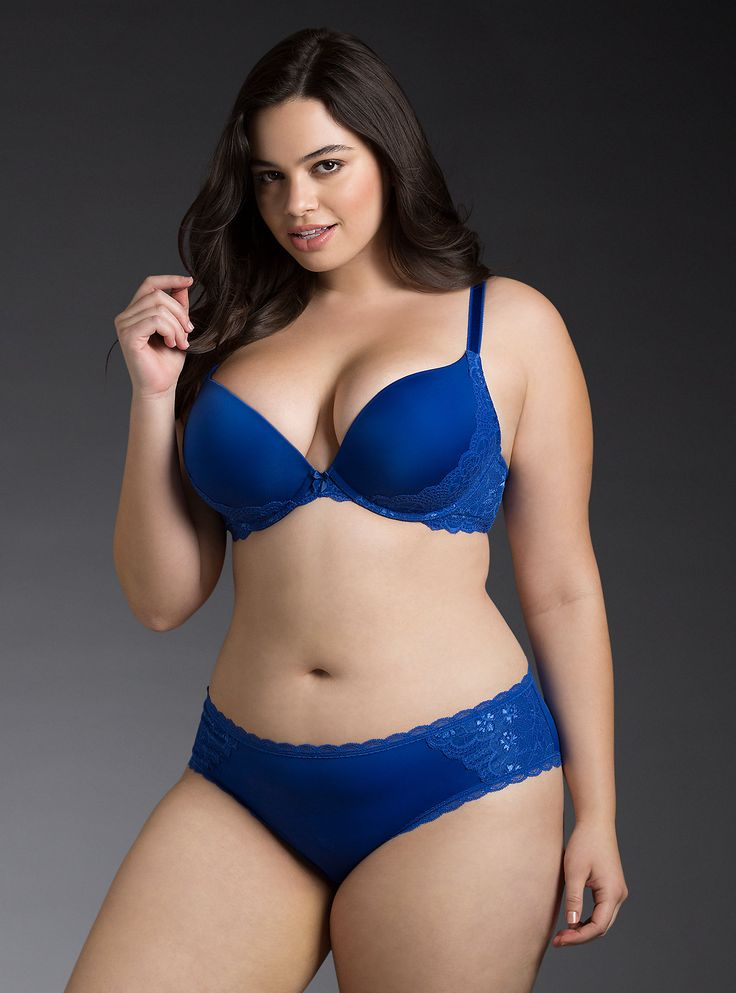 Plus size glamour model girl in lingerie stock image