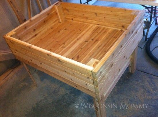 DIY~FREE Tutorial on how to build your own raised/elevated garden for a fraction of the retail price.
