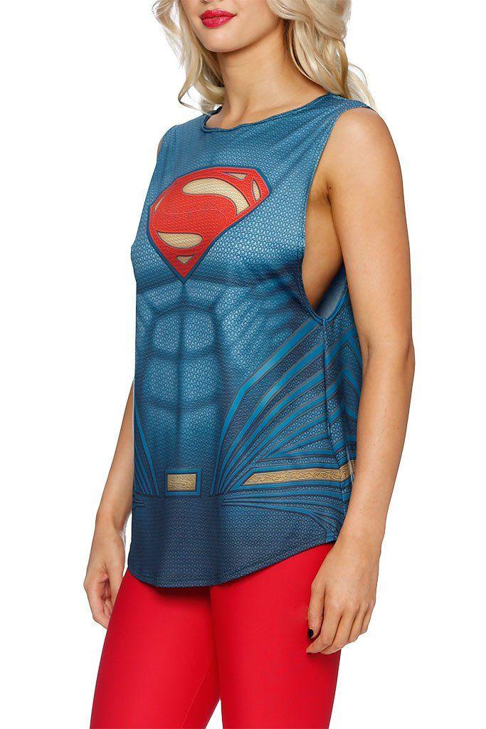 Superman Suit Muscle Top