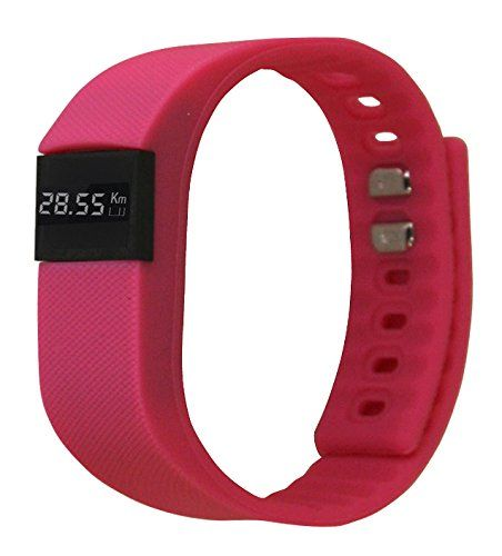 ActiveTec Fitness Tracker Smart Watch Bluetooth Watch Bracelet Smartband Calorie Counter Wireless Pedometer Sleep Monitor Sport Activity Tracker Android IOS Phone-Pink. Comes with a FREE RANDOM color watch band. Screen Display: time, date, battery level, steps, Kcalories, and mileage (distance in kilometers). Please NOTE this wireless smart sport watch is used with Mobile phone and dedicated APP (Day Day band APP). Compatible with: Android 4.3 or above, IOS 6.1 or above (such as iPhone 4S...