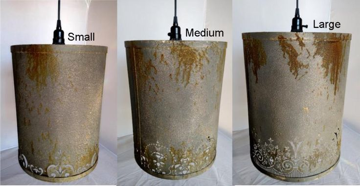 "Vintage Victorian Metal Drum Pendant Light 3 Sizes 12-14""W"