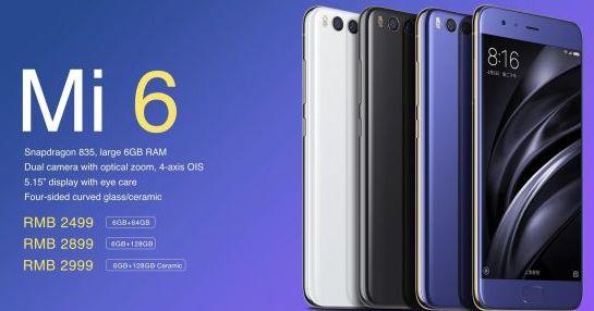 Lo smartphone Xiaomi Mi6 ha le stesse caratteristiche tecniche dell'iPhone 7, ma costa circa la metà.