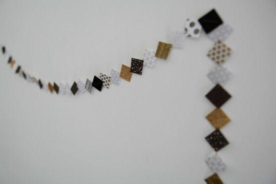 Un tuto très simple, détaillé pas à pas pour réaliser une guirlande en papier sans machine à coudre et pour un résultat tout en délicatesse et finesse.