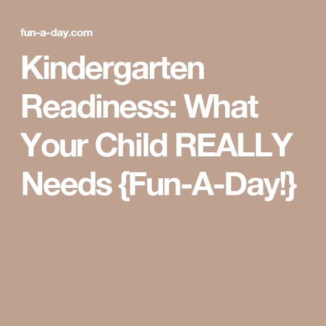 Kindergarten Readiness: What Your Child REALLY Needs {Fun-A-Day!}