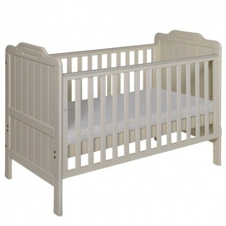 This Pine Cot Bed is made of solid pine. This Pine Cot Bed is ideal for the children's bedroom. The children's pine cot bed has been constructed with solid pine, this cot bed has smooth panels with a vanilla finish and is designed to grow with your little one easily converting into a junior bed. Suitable from birth up to approximately 6 years Converts into a junior bed Three position bed base Fixed side cot   Dimensions are :  Length : 145 cm Width: 77 cm Height : 95 cm Footboard Height : 33…