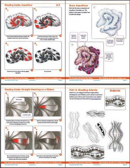 Wandbild Malen Tipps : Learn how to shade 4 tangle patterns • ebook by Eni Oken • enioken