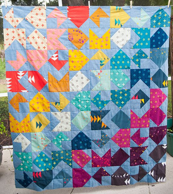 Opposites Attract Quilt Pattern PDF by OliviaJaneHand on Etsy