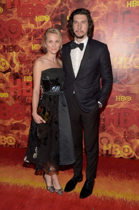 Adam Driver and Joanne Tucker at event of The 67th Primetime Emmy Awards (2015)