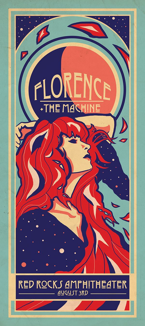 Art Nouveau Florence+ The Machine poster. #art #nouveau #artnouveau #poster #graphic #design #florence+themachine #florence #and #the #machine #florence #welch #florencewelch #alphonse #mucha #illustration #digital #artwork #photoshop