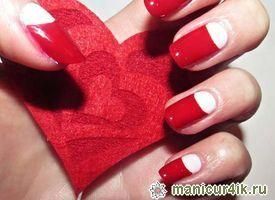 Маникюр на день святого Валентина - 14 февраля