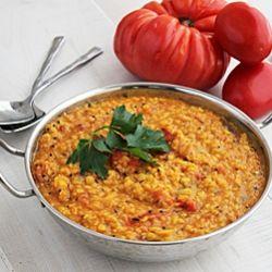 Tomato Lentil Curry (Vegan Dish)