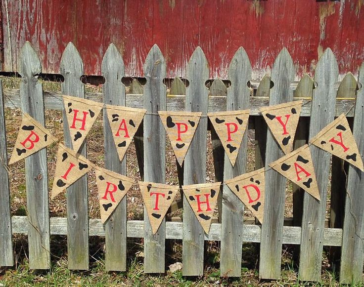 Excited to share the latest addition to my #etsy shop: Cow Print Birthday Banner, Happy Birthday  Cow Print, Farm Theme Banner, Photo Prop, Boy Birthday, Rustic Farm Garland