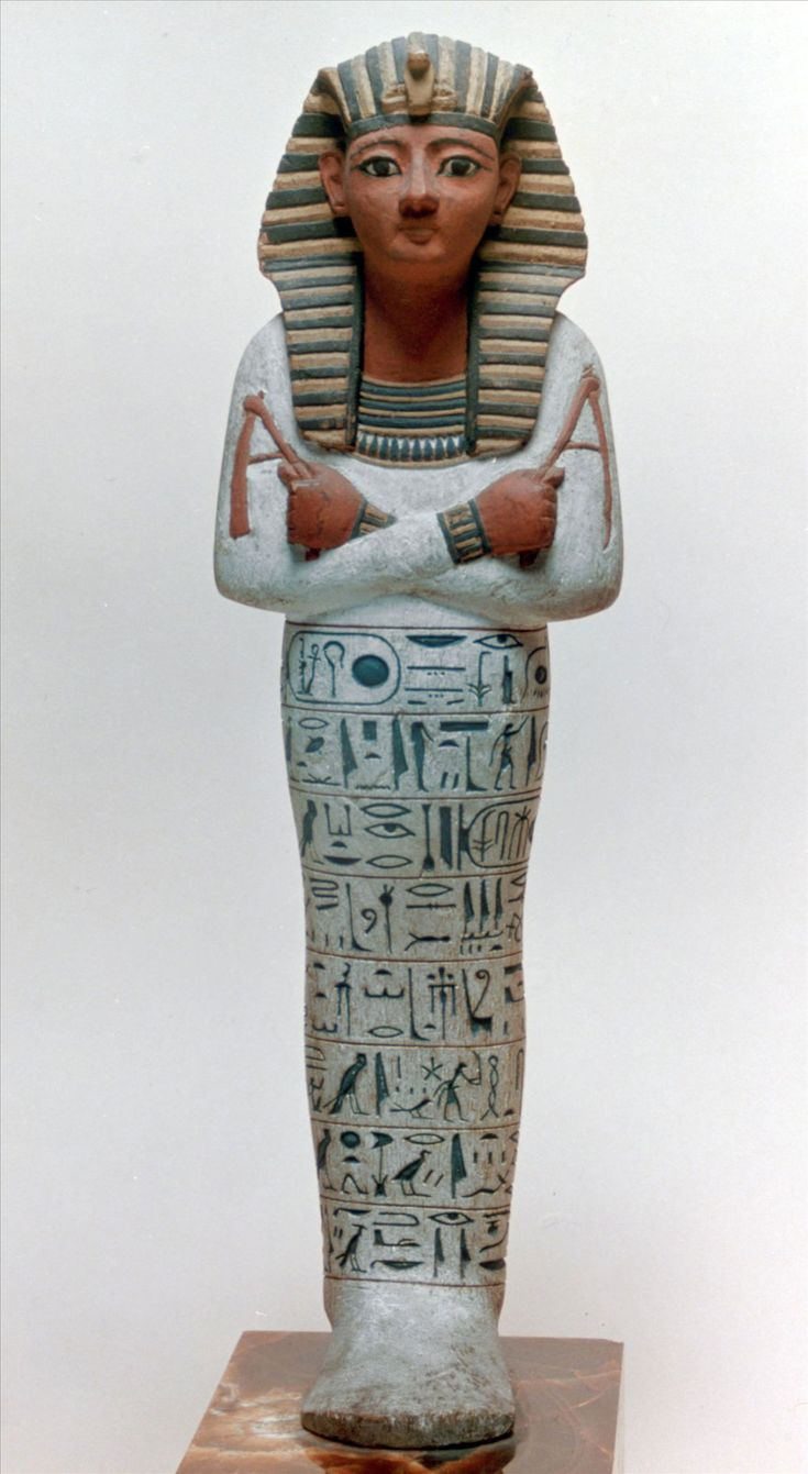 "Ushabti ""funerary figurine"" of Pharaoh Ramesses IV. New Kingdom,20th Dynasty c.a. 1189-1077 B.C."