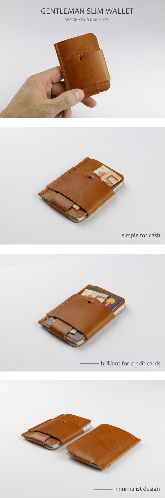 GENTLEMAN SLIM WALLET - DESIGN YOUR DAILY LIFE! by A. Nagel & Co. — Kickstarter