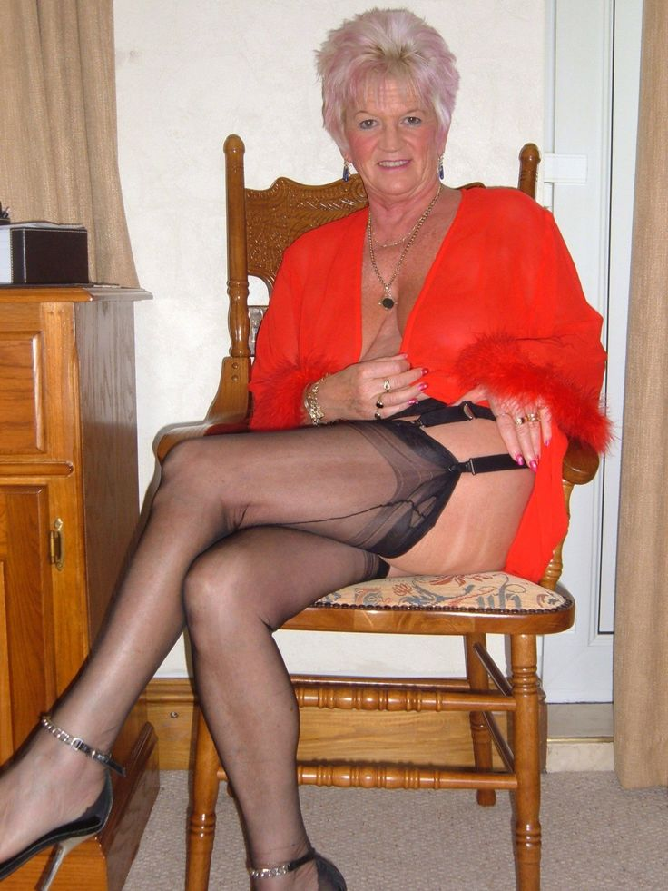 nude grandma in high heels