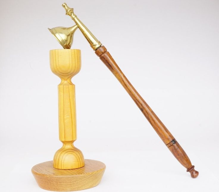 Vintage Wood and Brass Candle Snuffer from 1970 by ScandicDiscovery on Etsy