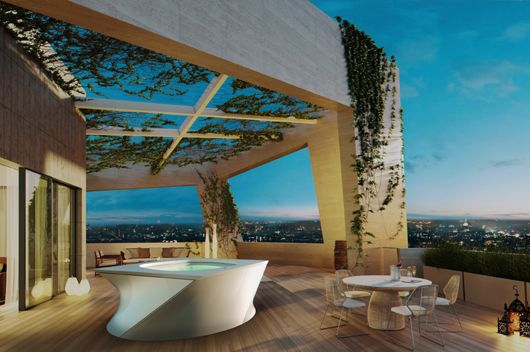 #Spa Urbano Flow. #Diseño de Daniel #Libeskind para #Jacuzzi