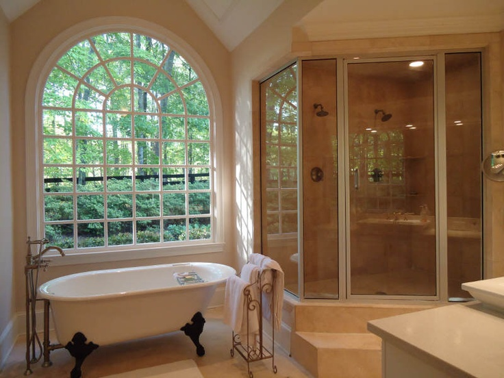 claw-foot tub and shower - two separate entities, must have both, must be separate. I wish...