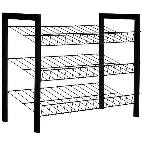 Buy John Lewis 3 Tier Shoe Rack, Black Online at johnlewis.com