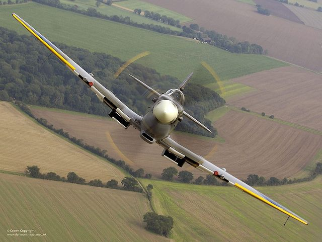 Air to air image of a Spitfire, taken over RAF Coningsby. | Flickr - Photo Sharing!