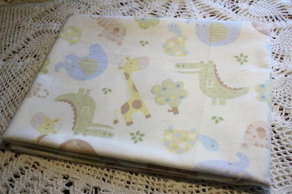Single Layer Receiving Cream Blanket Baby Animals