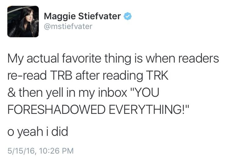 Contents of Maggie Stiefvater's Brain