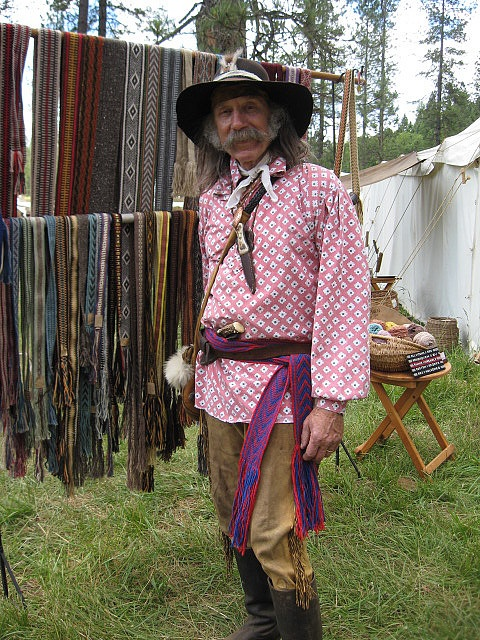 Bill Martini wearing a sash by Annie MacHale at the Pacific Primitive Rendezvous 2009: Primitive Rendezvous, Pacific Primitive, Photo