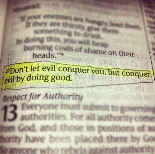 conquer evil by doing good