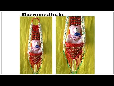 Full making of Macrame jhula| Red & White| New design| #2 - YouTube