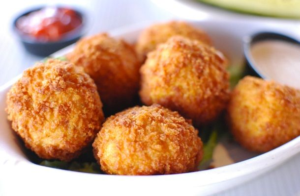 Deep Fried Cheddar Cheese Balls | cheese balls