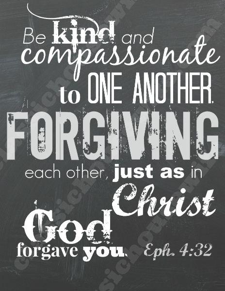 Free Bible Verse Wall Art Download -  Ephesians 4:32