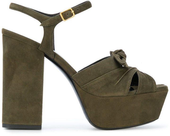 Saint Laurent Farrah 80 bow sandals