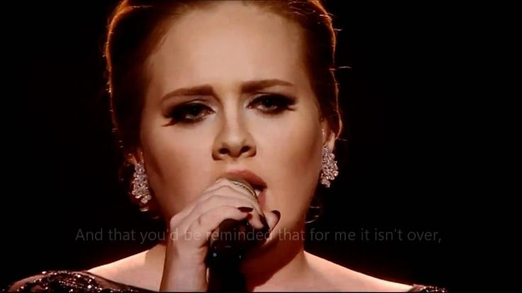 Adele - Someone like you (OFFICIAL VIDEO LYRICS) HD Live from Brit Award... A POESIA DO MOMENTO...