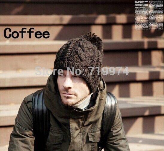 2014 nueva moda de tejer lana de invierno marca de acrílico torcedura frita de la pasta caliente de los sombreros / Gorros / bonetes para moda hombre mujer gorras(China (Mainland))