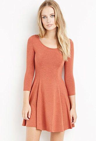 Knit Skater Dress | Forever 21 - 2000057826
