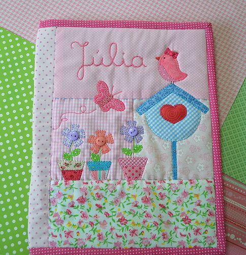 capa de caderneta de saúde MY Flowers