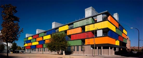 Madrid, Colourful Modernism's Apartment Building in Carabanchel.  #colorevolution