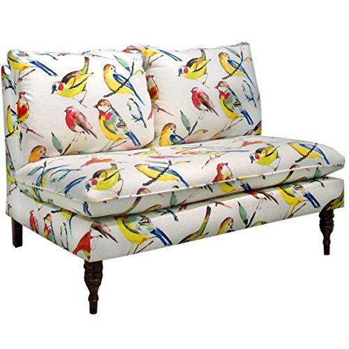 Skyline Furniture Birdwatcher Summer Armless Loveseat - Transitional