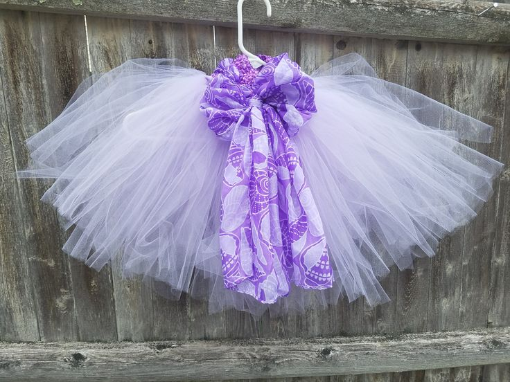 Lavender and Purple puffy tutu with seashell motif.  Beach getaway?  Beach photo shoots?  Up to you! by quailieskids on Etsy