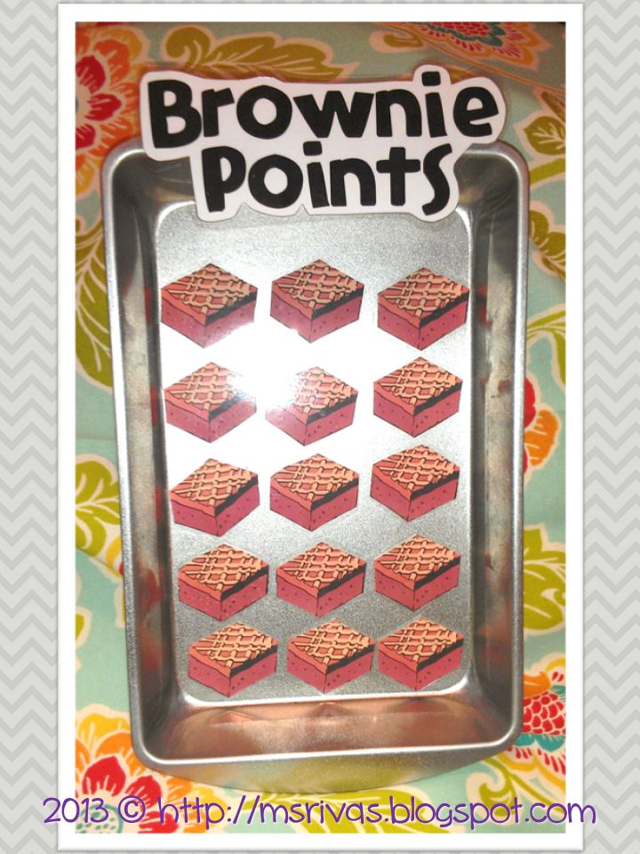 cute Brownie Points classroom freebie! (great classroom management tool)