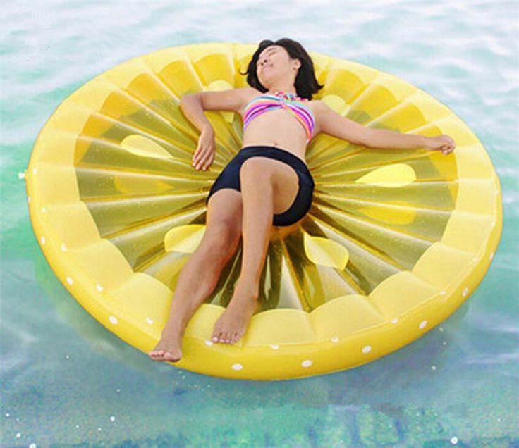 Carros alegóricos piscina flutuante inflável adultos crianças lemon melancia natação colchão de ar cama de praia barco da água barco brinquedos em Colchões de ar de Sports & Entretenimento no AliExpress.com | Alibaba Group